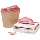 "Handi-Hopper Liners - Red Biohazard, 7"" x 10"" x 3"" gusset. Box of 100 liners"