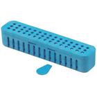 "Steri-Container, Compact - Blue 7-1/8"" x 1-1/2"" x 1-1/2"", Holds 12-15 hand"