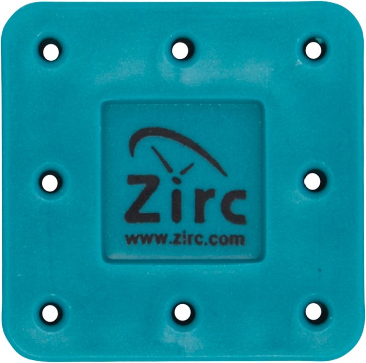 Zirc 8 Hole Teal, Magnetic Bur Block with Microba