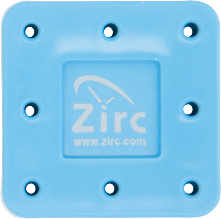 Zirc 8 Hole Neon Blue, Magnetic Bur Block with Mi