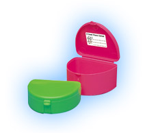 "Zirc Neon Yellow Retainer Boxes - Deep 3""W x 1-1/"