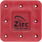 Zirc 8 Hole Red, Magnetic Bur Block with Microban. Autoclavable/Chemiclavable