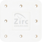 Zirc 8 Hole White, Magnetic Bur Block with Microban. Autoclavable/Chemiclavable
