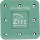Zirc 8 Hole Green, Magnetic Bur Block with Microban. Autoclavable/Chemiclavable