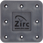 Zirc 8 Hole Gray, Magnetic Bur Block with Microban. Autoclavable/Chemiclavable