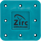 Zirc 8 Hole Teal, Magnetic Bur Block with Microban. Autoclavable/Chemiclavable