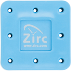 Zirc 8 Hole Neon Blue, Magnetic Bur Block with Microban