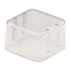 "Zirc Bur Block Cover - 8 Hole 1"" High, Clear Plastic, for Standard Burs"