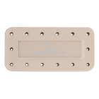 Zirc 14 Hole Beige, Magnetic Bur Block with Microban