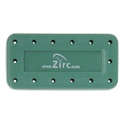 Zirc 14 Hole Green, Magnetic Bur Block with Microban