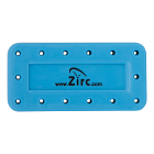 Zirc 14 Hole Neon Blue, Magnetic Bur Block with Microban