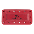 Zirc 14 Hole Red, Magnetic Bur Block with Microban. Autoclavable/Chemiclavable
