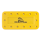 Zirc 14 Hole Yellow, Magnetic Bur Block with Microban