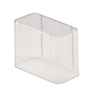 "Zirc Bur Block Cover - 14 Hole 2"" High, Clear Plastic, for Lab Burs"