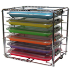 Zirc Multi-Mod 6-Place Rack, Can hold 6 trays or 3 tubs with covers, Adjustable