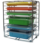 Zirc Multi-Mod 8-Place Rack, Can hold 8 trays or 4 tubs with covers, Adjustable