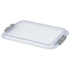 Zirc B-Lok Locking Tray Cover, Clear, Side Locking Mechanism, Fits only B-Lock