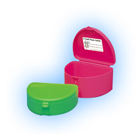 "Zirc Assorted Retainer Boxes - Deep 3""W x 1-1/2""D, Assorted colors including"